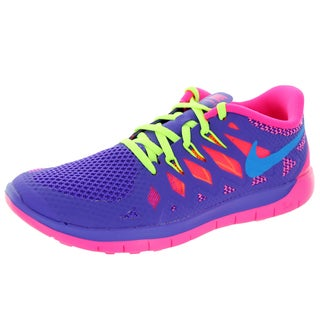Nike Kid's Free 5.0 (Gs) Hyper Grape/ Pink/Vlt Running Shoe