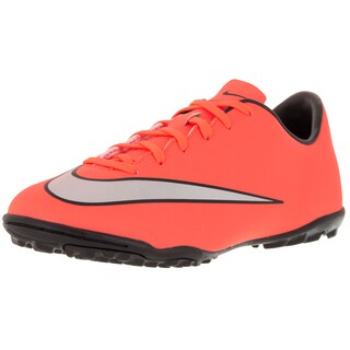 Nike Kid's Jr Mercurial Victory V Tf Brightt Magenta/Metallic Silver/ Trq Turf Soccer Shoe