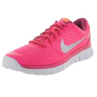 Nike Kid's Flex 2015 (Gs) Pink Pw/Metallic Silver/Brght Ctrs/V Running Shoe