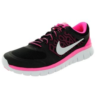 Nike Kids Flex 2015 (Gs) Black/White/Pink Pow Running Shoe