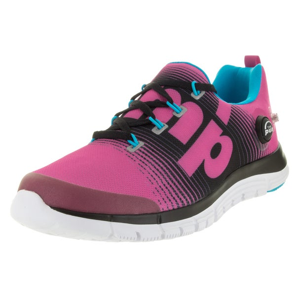 Reebok Kid's Zpump Fusion Charged Pink/Black/Blue Running Shoe