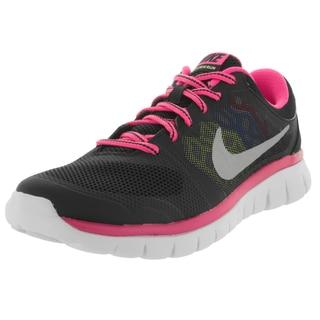 Nike Kids Flex 2015 (Gs) Black/Metallic Silver/Pink Pw/ Running Shoe