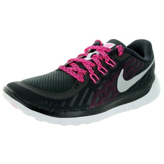 Nike Kids Free 5.0 (Gs) Black/Metallic Silver/Vvd Pink/Pink Pw Running Shoe