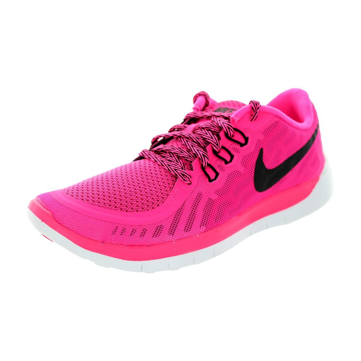 Shop Nike Kids Free 5 0 Gs Pink Pow Black Vivid Pink White Running Shoe Overstock 12330617