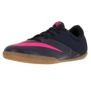 Nike Kids Jr Mercurialx Pro Ic Mid Navy/Mid Navy/Pink Blst/Rcr B Indoor Soccer Shoe