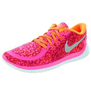 Nike Kids Free 5.0 Print (Gs) Pink Pw/Metallic Silver/Brhgt Ctrs/V Running Shoe