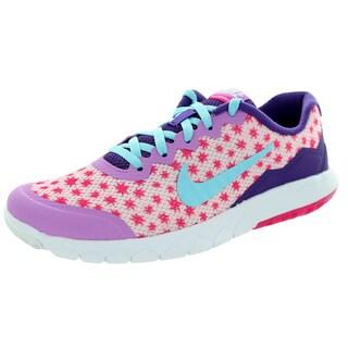Nike Kid'S Flex Experience 4 Print (Gs) Prsm Pink/Pink Running Shoe