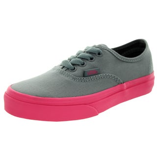 Vans Kids Authentic (Pop Outsole) Frstgy/Hotpk Skate Shoe