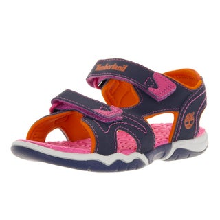 Timberland Kid's Askr 2Strap Navy/Pink/Orange Sandal