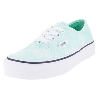 Vans Kid's Authentic (Tie Dye) Turquoise/White Skate Shoe