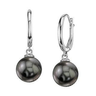 Radiance Pearl 14k Gold Tahitian South Sea Pearl Earrings (10-11mm/ 11-12mm/ 12-13mm)