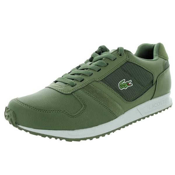 287c462098611 Shop Lacoste Men s Vauban Twd Spm Khk Khk Casual Shoe - Free ...