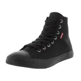 Levi's Men's Hamilton Buck Hi Black Mono Chrome Casual Shoe