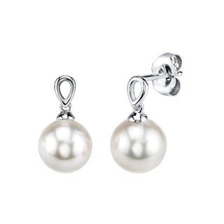 Radiance Pearl 14k Gold White Akoya Pearl Earrings (7.5-8.0mm/ 8.0-8.5mm/ 8.5-9.0mm)
