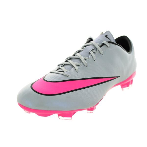 593a1e239 Shop Nike Men s Mercurial Veloce Ii Fg Grey Hyper Pink Black Black ...