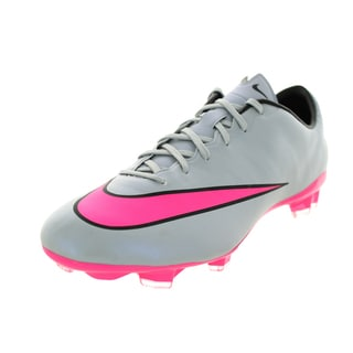 Nike Men's Mercurial Veloce Ii Fg Grey/Hyper Pink/Black/Black Soccer Cleat