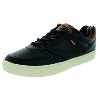 Levi's Men's Jeffrey Tumbled Nappa Black/Dark Brown Casual Shoe