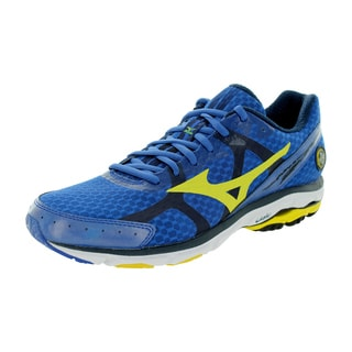 Mizuno Men's Wave Rider 17 Blue/Yellow Running Shoe