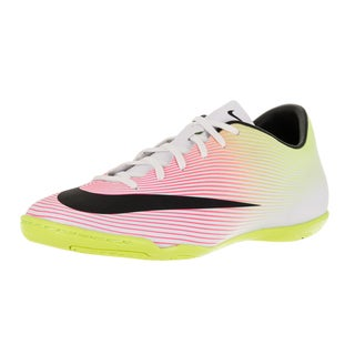 Nike Men's Mercurial Victory V Ic White/Black/Volt/Total Orange Indoor Soccer Shoe
