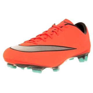 Nike Men's Mercurial Veloce Ii Fg Brightt Mango/Metallic Silver/ Trq Soccer Cleat