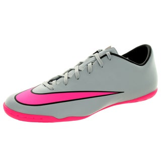 Nike Men's Mercurial Victory V Ic Wolf Grey/Hyper Pink/Black/Black Indoor Soccer Shoe