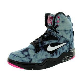 Nike Men's Air Command Force Black/White/Pink Pow Basketball Shoe