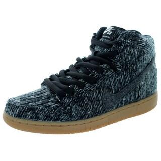 Nike Men's Dunk High Warmth Black/Black/Gum Med Brown Casual Shoe
