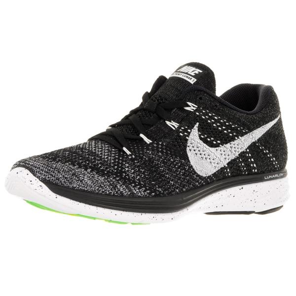 reputable site 62c3b ec9a1 Nike Men  x27 s Flyknit Lunar3 Black White Mid Fog Grey