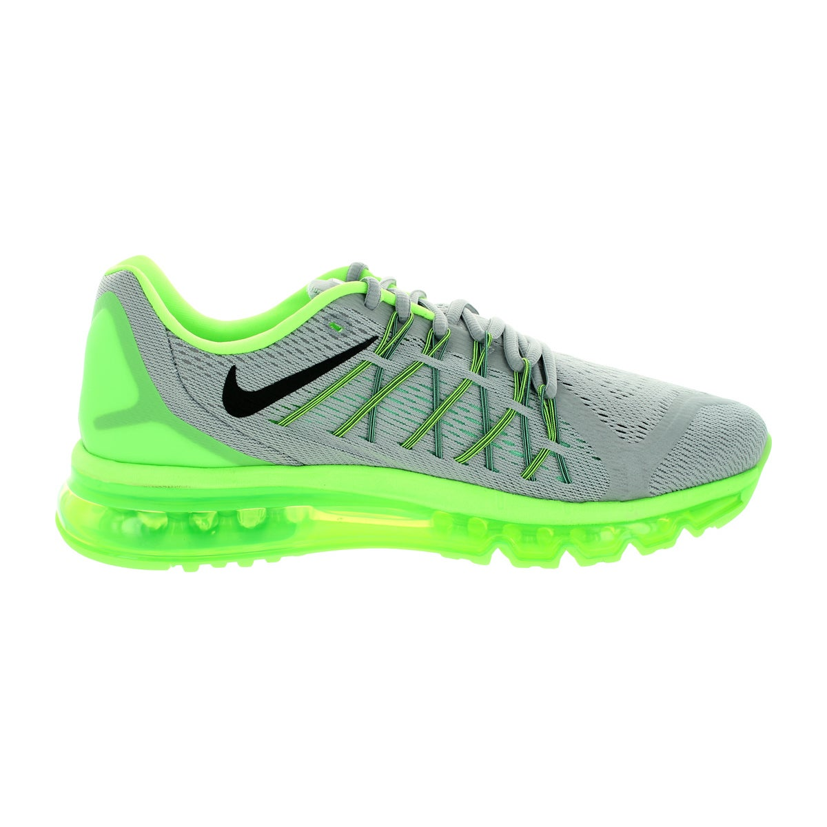 c0ba3d4b2769 Shop Nike Men's Air Max 2015 Wolf Grey/Black/G Glw/ Running Shoe - Free  Shipping Today - Overstock - 12330956