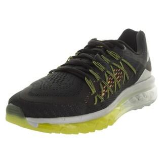 Nike Men's Air Max 2015 Black/Black/Lsr Orange/Metallic Silver Running Shoe