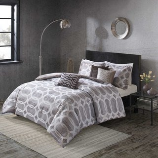 Shop Madison Park Matteo Neutral 6 Piece Duvet Cover Set