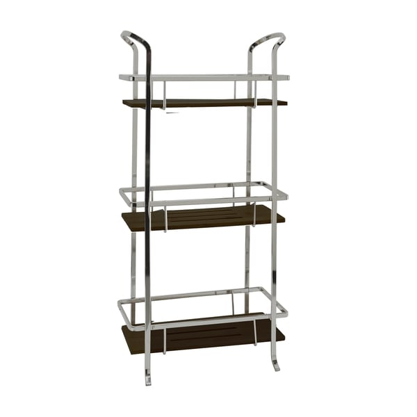 Laura Ashley Iron and Black Bamboo 3 Tier Spa Tower