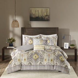 Madison Park Sabina Yellow 6-piece Duvet Cover Set