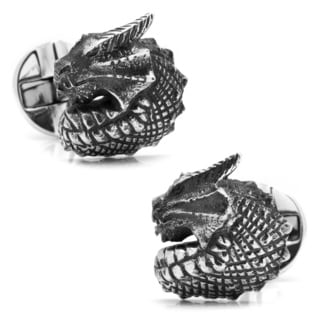Sterling Silver Dragon Cuff Links
