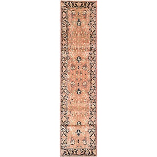 ecarpetgallery Hand-Knotted Serapi Heritage Brown Wool Rug (2'7 x 16'2)