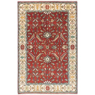 ecarpetgallery  Hand-Knotted Serapi Heritage Red  Wool Rug (5'9 x 7'9)