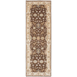 ecarpetgallery  Hand-Knotted Royal Ushak Green  Wool Rug (2'8 x 7'11)