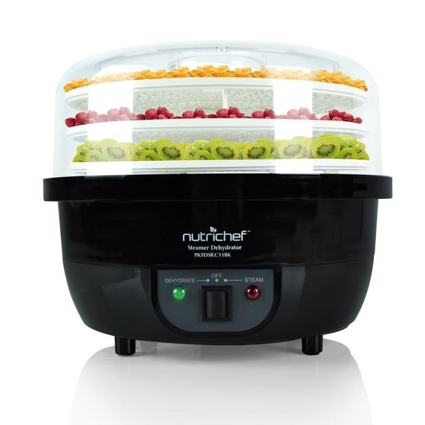 NutriChef 3-in-1 Dehydrator & Steamer Food Cooker