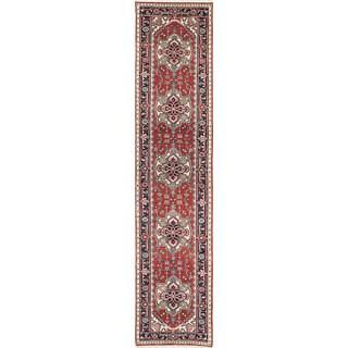 ecarpetgallery Hand-Knotted Serapi Heritage Orange Wool Rug (2'7 x 11'10)