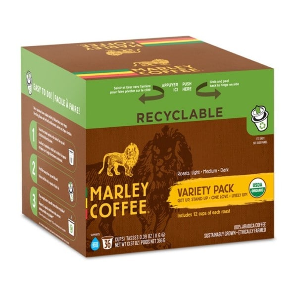 Marley Coffee Marley Mixer Organic RealCup Portion Pack for Keurig Brewers