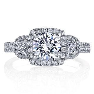 Lihara and Co. Platinum 3/4ct TDW Diamond Semi-Mount Engagement Ring