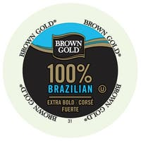 Brown Gold Coffee Brazilian, RealCup Portion Pack for Keurig K-Cup Brewers