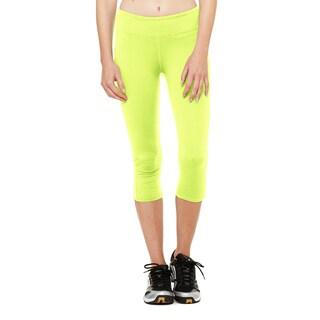 Capri Women's Legging Sport Safety Yellow