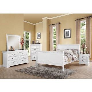 Acme Furniture Louis Philippe III White 4 Piece Bedroom Set (Option: Queen)