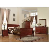 Acme Furniture Louis Philippe III 4-piece Cherry Bedroom Set
