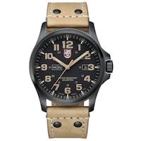 f18f32e7202 Luminox Atacama Field Day Black Carbon Fiber Dial Brown Leather Mens Watch  1925