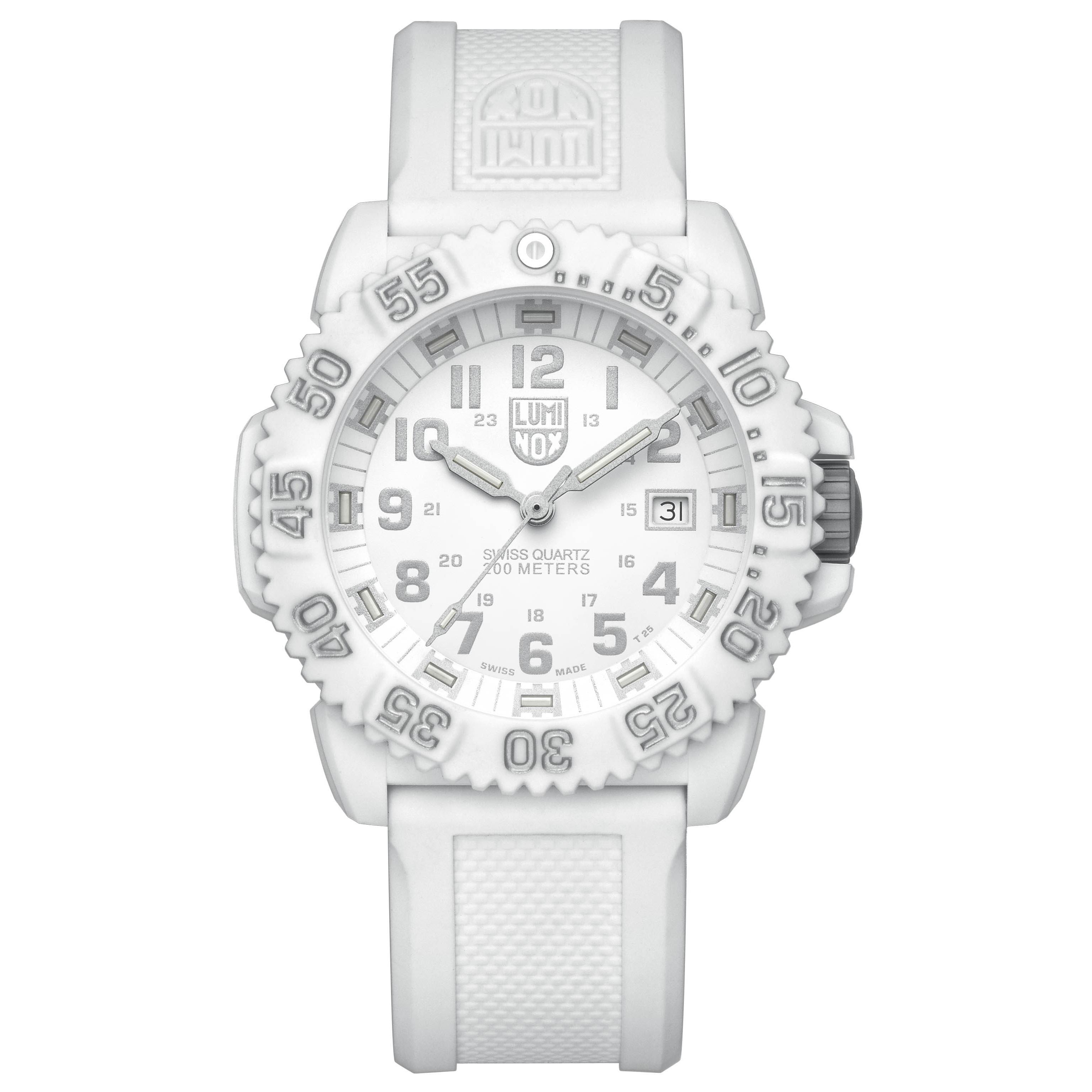 Luminox Unisex 3057.WO Swiss Quartz Movement Watch (White...