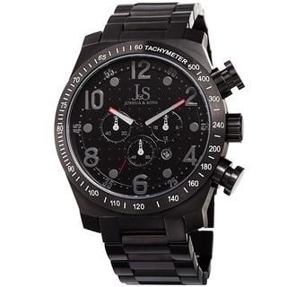 Link to Joshua & Sons Men's Quartz Chronograph Tachymeter Stainless Steel Black Bracelet Watch Similar Items in Men's Watches