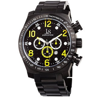 Joshua & Sons Men's Quartz Chronograph Tachymeter Stainless Steel Yellow Bracelet Watch