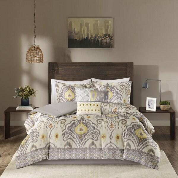 Madison Park Sabina Yellow 7-piece Comforter Set
